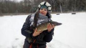 Поклевки щуки на живца Лесное озеро в Беларусии