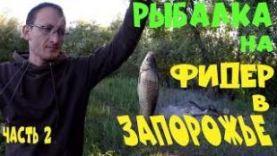 Рыбалка на фидер в Запорожье, ловля карася
