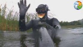 """Подводная охота на """"Золотом"""" озере"""