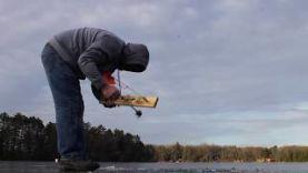 Ловля щуки на жерлицу по первому ноябрьскому льду 2017
