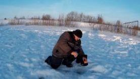 Ловля щуки на жерлицы зимой в России, январь 2017