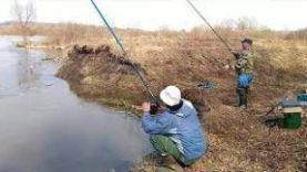 Рыбалка в Тульской обл. р.Сежка.