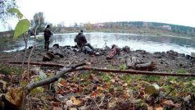 Ловля дикого карпа осенью Фидер Река