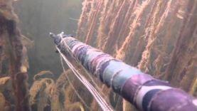 Подводная охота на речке в Челябинской области, новинка 2015